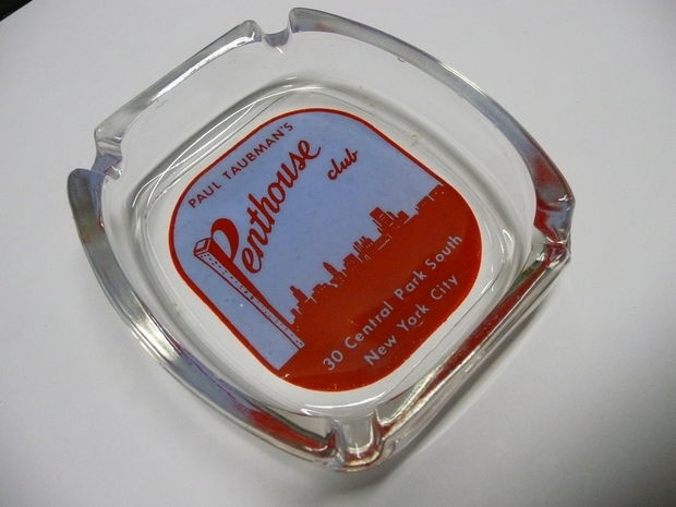 Paul Taubman's Penthouse Club Ashtray New York City History Collectable Advertising Tobacciana: $40