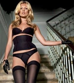 Kate Moss Descending Stairs In Lingerie 79