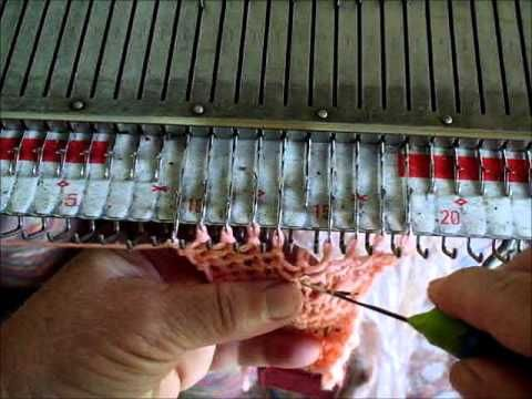 garter stitch on the knitting machine - YouTube