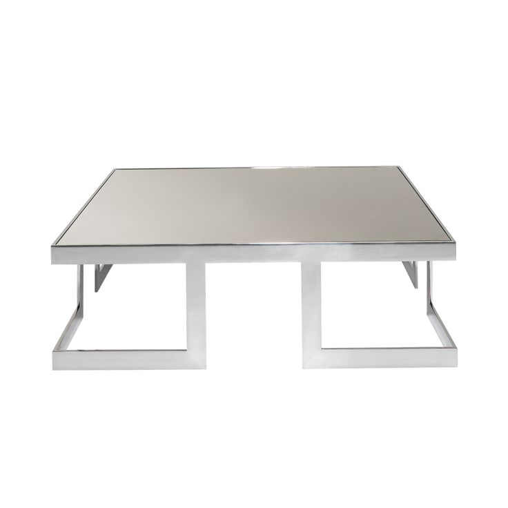 Bristol is an elegant,square and smooth stainless steel center table with mirrored top. A futuristic coffee table that will give a bright feel to your decor