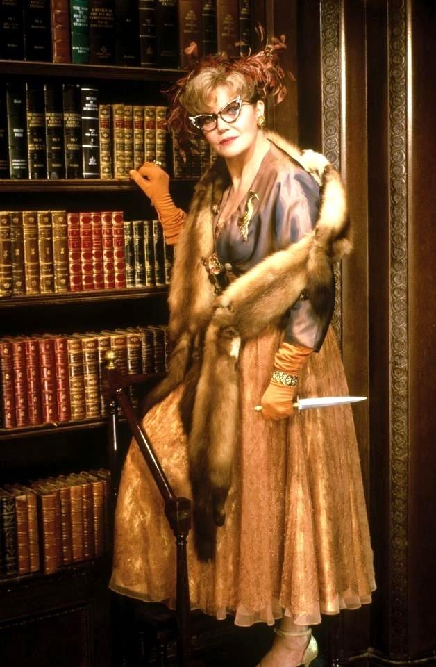 "Professor Plum: ""What are you afraid of, a fate worse than death?"" Mrs. Peacock: ""No, just death, isn't that enough?"" RIP Eileen Brennan."