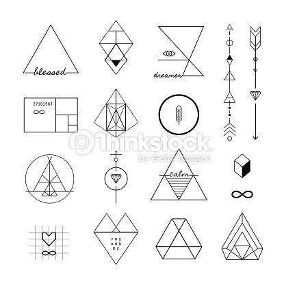 Vector Art : Set of vector trendy geometric icons and logotypes.