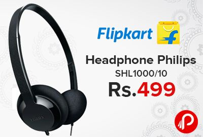 Flipkart is offering 16% off on #Philips SHL1000/10 #Headphone just at Rs.499. Supra-aural Headphone, 30 mW Max Power, On the Ear Headphone, Wired Connectivity.  http://www.paisebachaoindia.com/headphone-philips-shl100010-just-at-rs-499-flipkart/