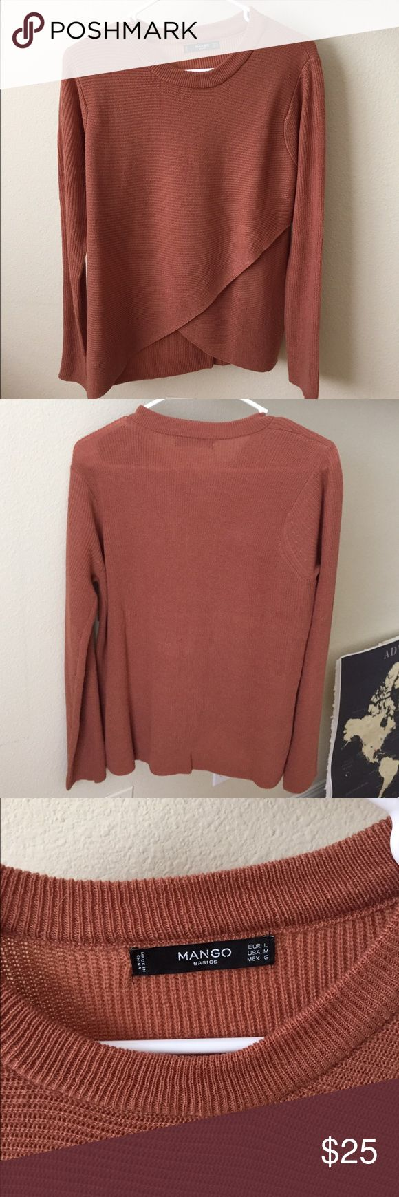Mango Sweater NWOT.Depending on height and fit, can show belly button. Bought in Germany and never tried it on, too small for me. USA SIZE M Mango Sweaters