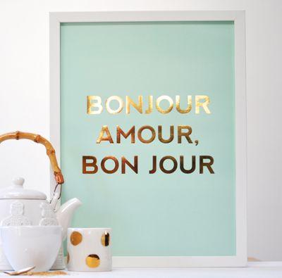 Bonjour Amour, Bonjour Print   Pony Lane