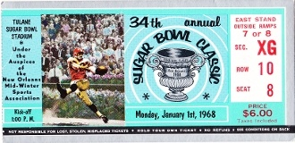1968 Wyoming vs. LSU Historic football poster. Great for a game room or office.  LSU football gifts! http://www.lsufootballgifts.com/ #gifts #Christmasgifts #football