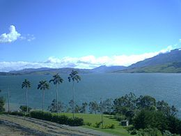 El embalse del Calima conocido como el Lago Calima es una de las represas más grandes de Colombia, con una superficie de 70 kilómetros cuadrados. Se encuentra entre los municipios de Darién (en su mayor parte) y Restrepo, en el departamento de Valle del Cauca.