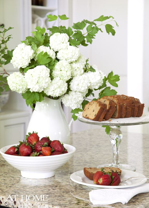 /: Decor, House Beautiful, At Home, Breakfast, Almonds Cakes, Almond Cakes, 3Zucchini Breads, Arkansas,  Flowerpot