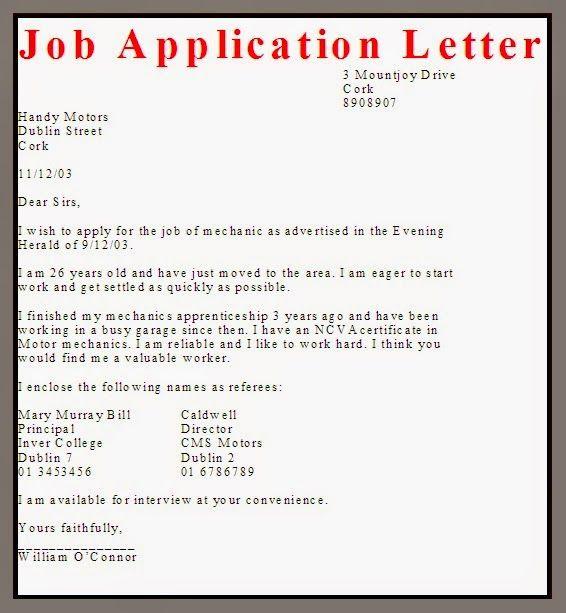 98 best application letter images on Pinterest Resume cover