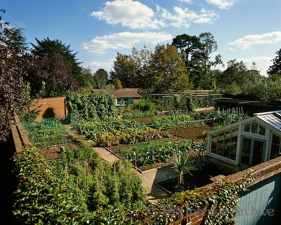 Aerial View Of The Walled Kitchen Garden At Kew Gardens