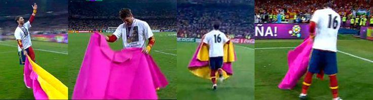 """Mundial de fútbol 2012. Sergio Ramos: """"He toreado en homenaje a Talavante y al mundo del toro"""" OLEEEEEEEEEEEE!!!!!!!!!!"""