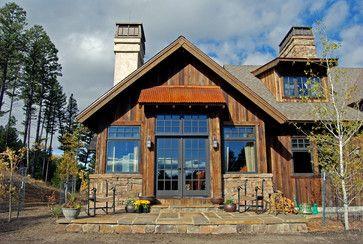 Rustic Craftsman Home Exterior With Brown Metal Industrial
