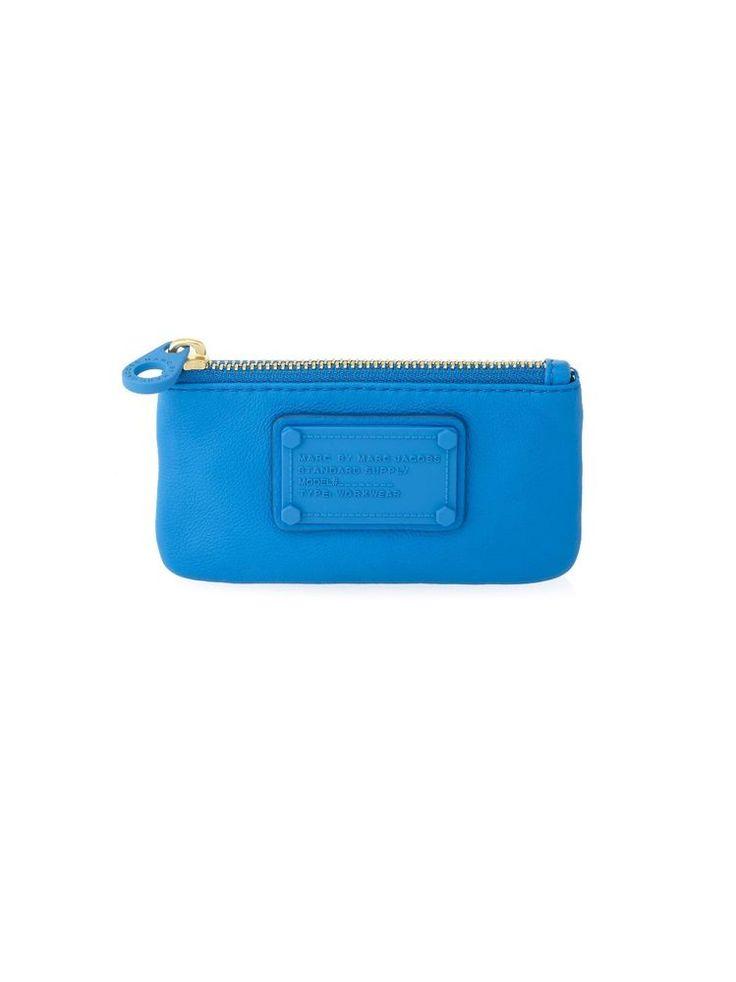 MARC JACOBS ELECTRO Q KEY POUCH Card Holder ELECTRIC BLUE LEMONADE #marcbymarcjacobs