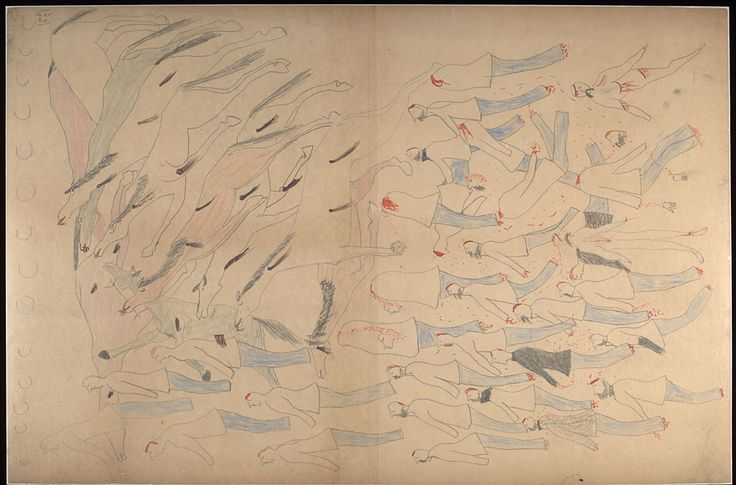 A pictographic account of the LBH Battle - 1876 | www.American-Tribes.com