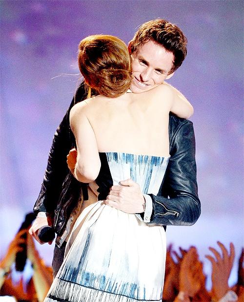 Eddie Redmayne and Emma Watson at MTV Awards