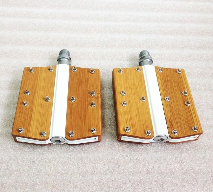"""Bamboo 9/16"""" Flat Pedal Classic Design Bicycle Bike Pedals http://gekoo.co/buy/01/?query=121644254176…"""