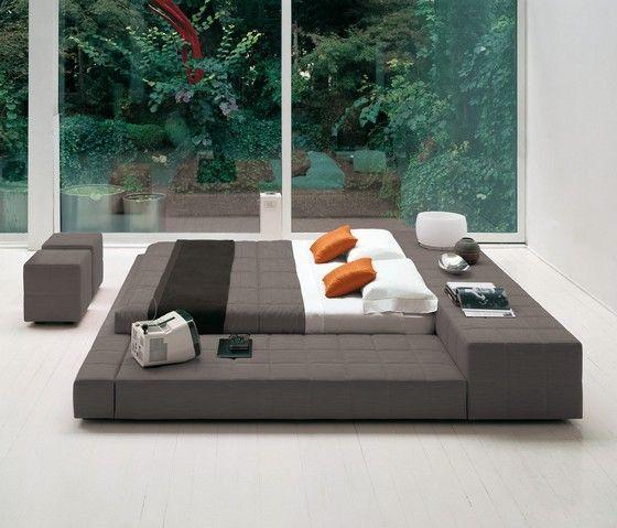 Piso tatami cama muebles de dormitorio de matrimonio moderno y contemporáneo de cuero suave Hecho en China