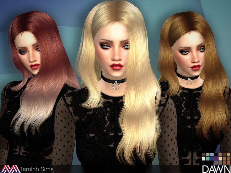 The Sims Resource: Dawn Hair 29 by Tsminh Sims