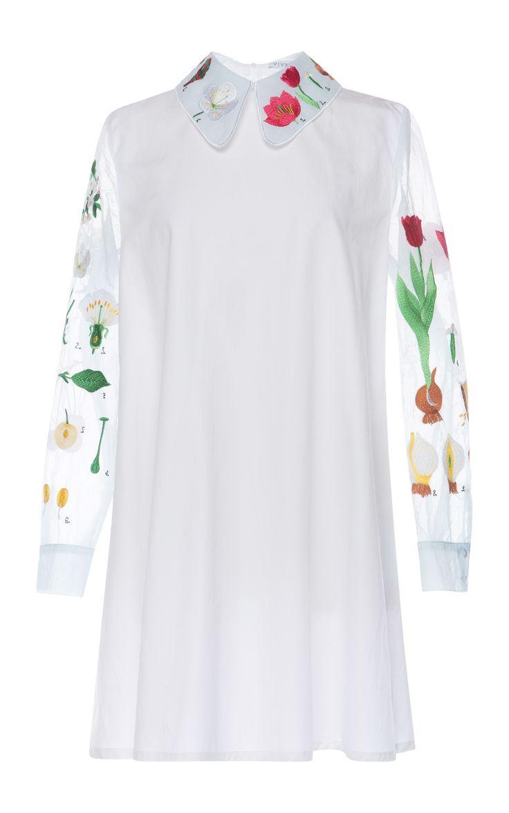 Garden Poplin Ruffo Dress by Vivetta for Preorder on Moda Operandi