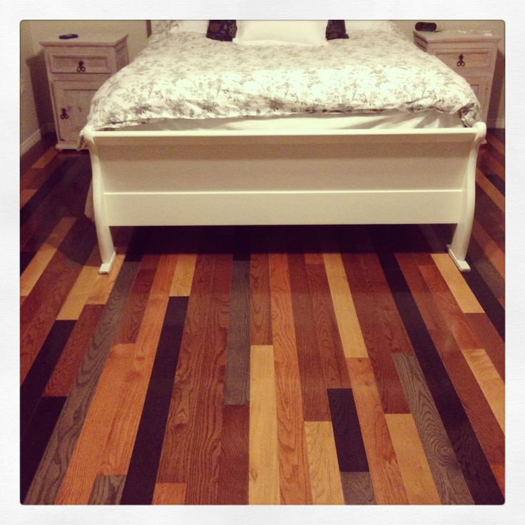 My awesome multi colored hardwood floor. Loving how it turned out ;)