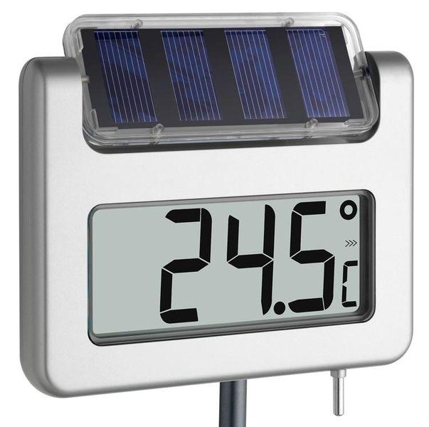 Termómetro Digital Solar para jardín, iluminado.