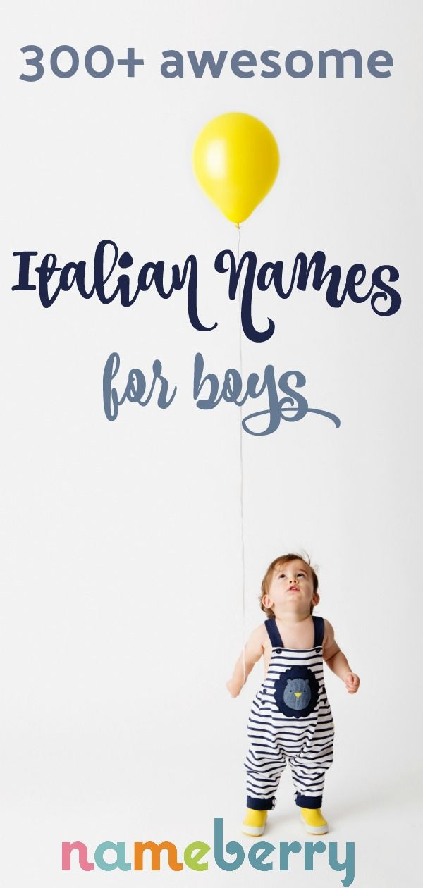 Italian Boy Name: 49 Best International Baby Names Images On Pinterest