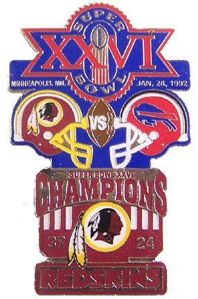 Super Bowl XXVI (26) Oversized Commemorative Pin