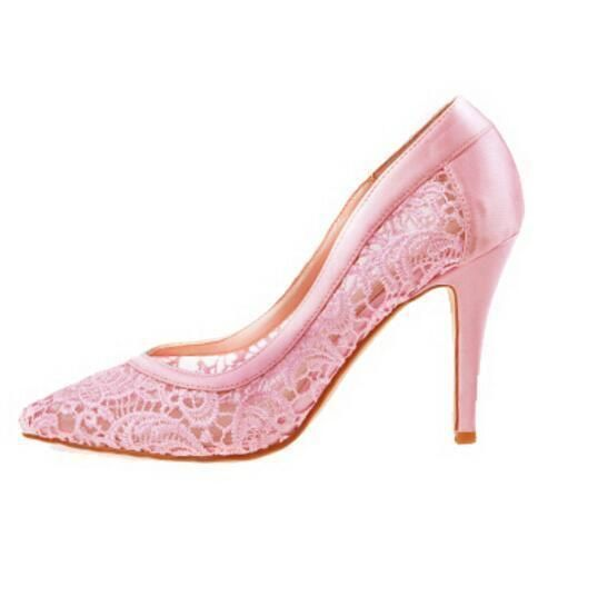 18a4f5f7de2 Sexy See Through High Heels Pointed Toe Lace Wedding Bridal Shoes ...