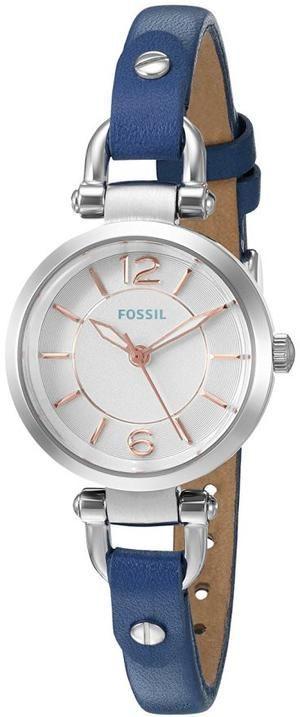 awesome Montre pour femme : Blue leather quartz watch - Fossil...
