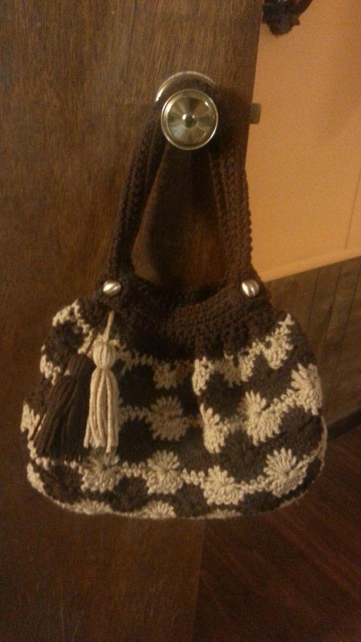Crochet Bag -Crochet Catherine wheel bag purse TUTORIAL