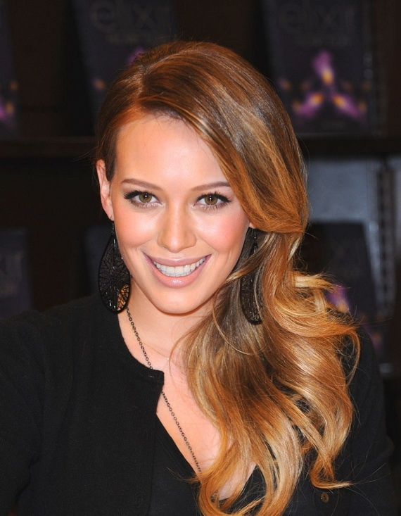 Hillary Duff. Vintage waves. #hair Love color