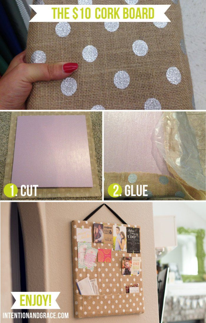 17 best corkboard ideas on pinterest cork boards pin for Diy fabric bulletin board ideas