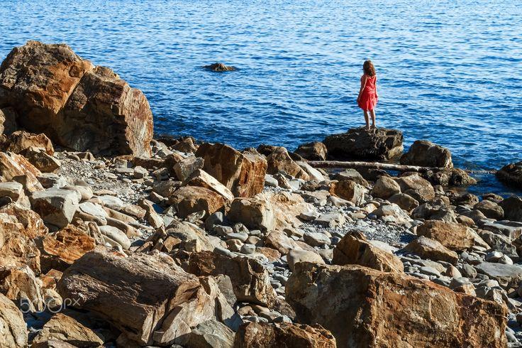 Girl on the Seashore - Coast of the Black Sea, Russia