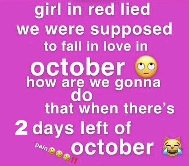 Fbstatusmemes On Instagram Ummm Wtf October Is Over Credits To Imveryfuckingay On Twit In 2020 Funnt Memes Cute Memes Funny Memes