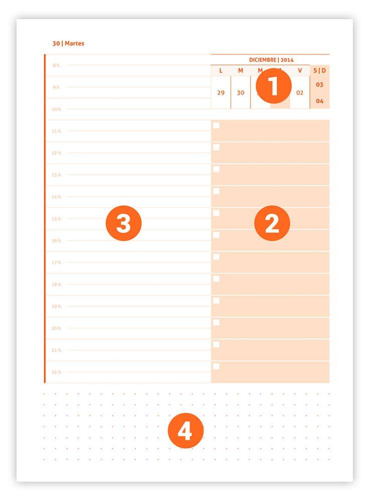 Te presentamos nuestra novedad en #plantillas para #Indesign: agenda diaria 2017  #template #agenda #2017