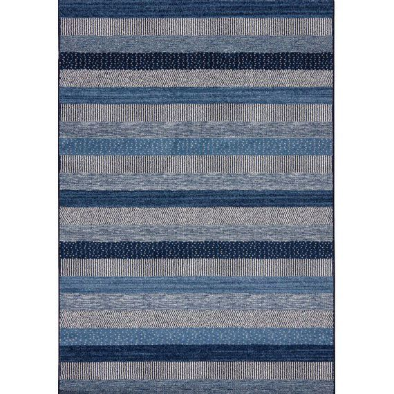 Ковер синие полосы Capri 32743-5241