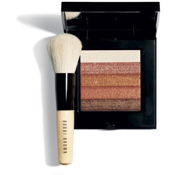 Bobbi Brown Bronze Shimmerbrick with brush Set ❤ liked on Polyvore featuring beauty products, makeup, makeup tools, makeup brushes, set of brushes, blender brush, makeup blending brush, set of makeup brushes and bobbi brown cosmetics