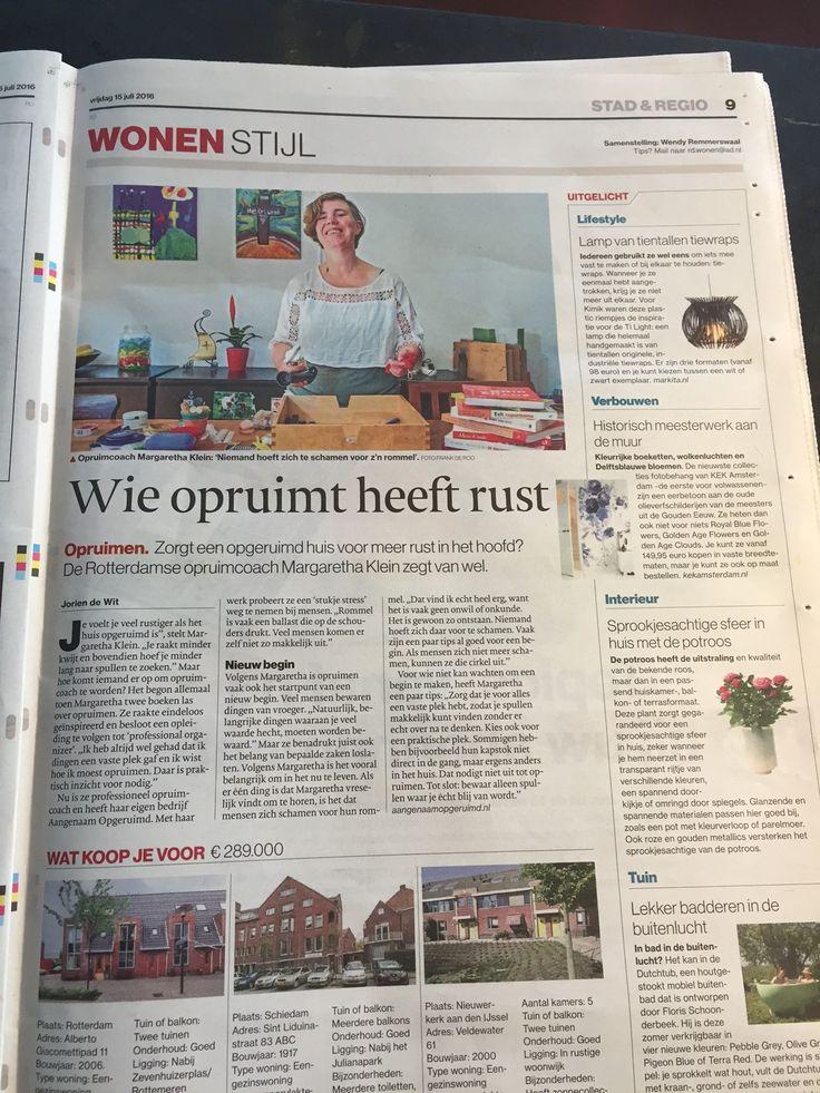 """Meet Margaretha!  Margaretha zorgt ervoor dat het keuken- en bedienend personeel van STROOM altijd schone spullen heeft om zo onze gasten tevreden te houden.  Margaretha en haar man voeden 4 kinderen op. Zij volgde een opleiding professional organizer en startte haar bedrijf """"Aangenaam Opgeruimd"""". Zij vertelde erover in het Algemeen Dagblad Rotterdam!   #HumansofSTROOM"""