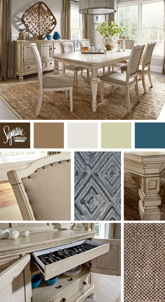 White U0026 Creams   Vintage Inspired Dining Room   Demarlos Dining Room   Ashley  Furniture