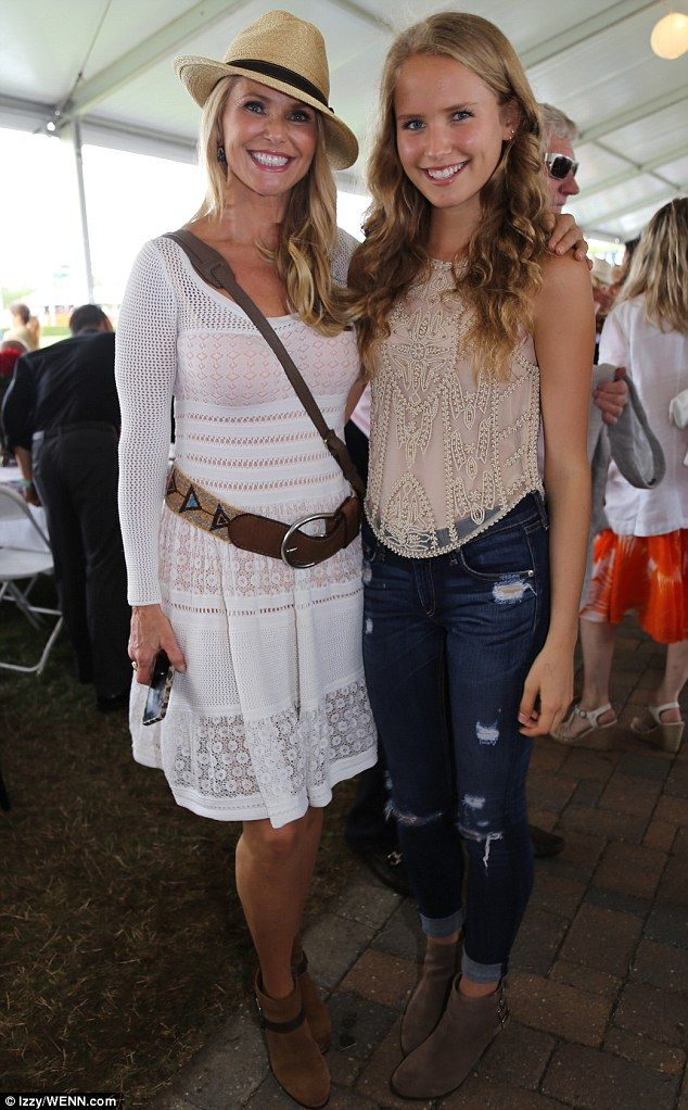 It's only a matter of months until she turns the ripe old age of 60, but Christie Brinkley is making sure no one can tell,  she posed for pictures next to her 15-year-old daughter Sailor Cook .