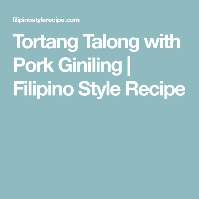 Tortang Talong with Pork Giniling | Filipino Style Recipe
