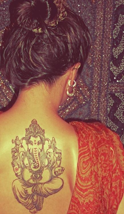 ganesh tattoo, god of prosperity and life