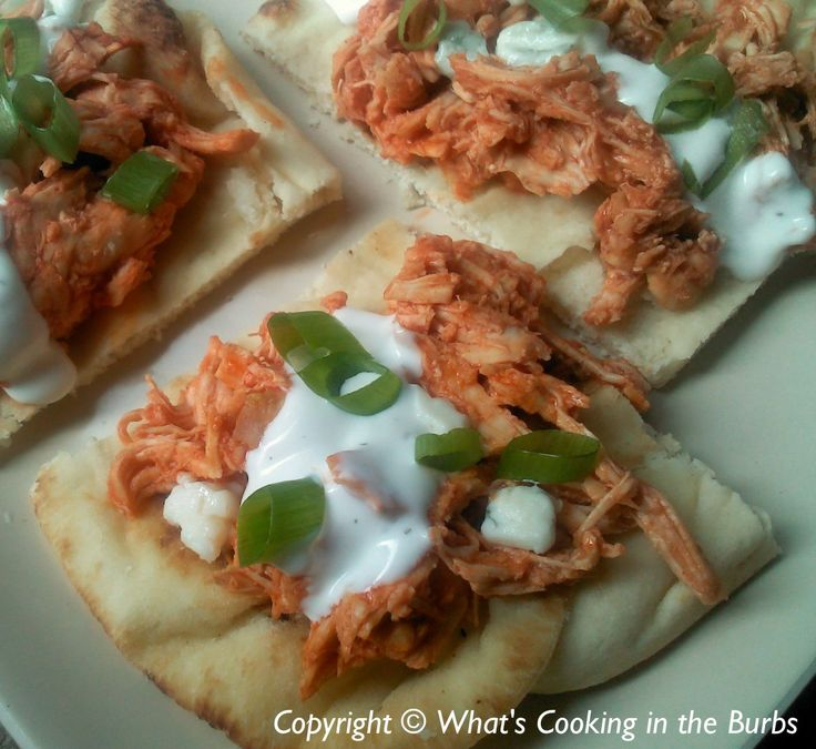 Buffalo Chicken Flatbread Tacos Weight Watchers