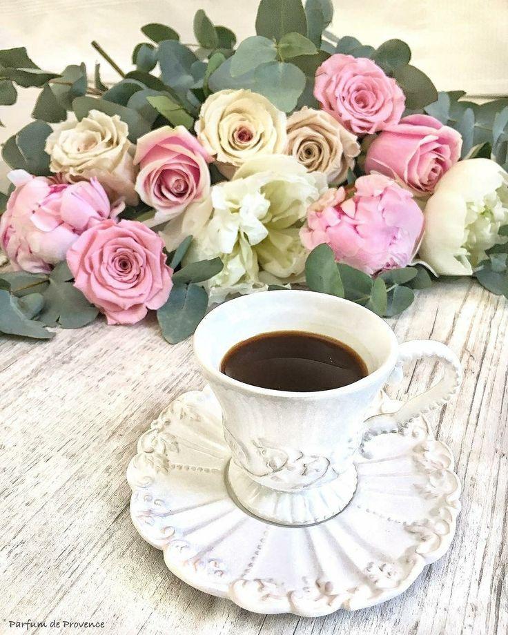 фото картинки кофе с розами казанова