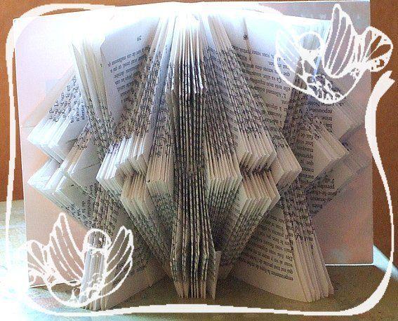 31 best pliage de livre images on pinterest - Pliage de livre en forme de sapin ...