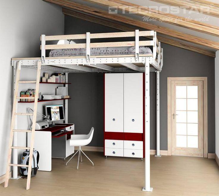 ... Camera Da Letto Soppalco su Pinterest  Camera loft, Camere mansardate