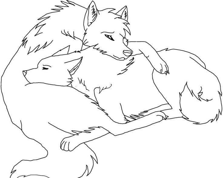 friendly wolf coloring pages - photo#38