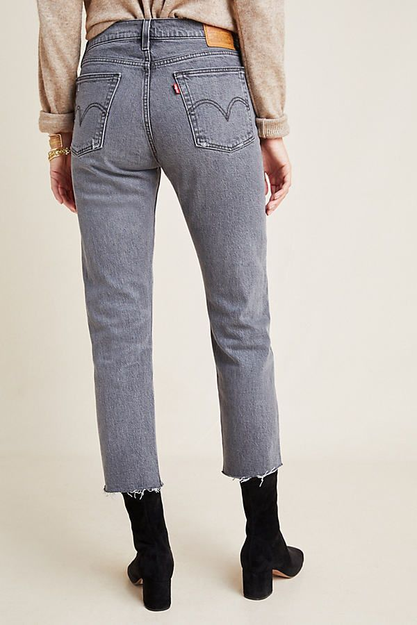 Levi's Wedgie high rise straight fit cropped jeans • de