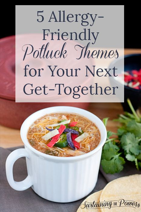 This entry is part of 1 in the series Simple Hospitality These 5 Allergy-friendly Potluck Themes are sure to be a hit the next time you have friends over for a meal!  Welcome to the first post in a new series I'm doing called Simple Hospitality! In a Pinterest-filled world it's easy to think you have …