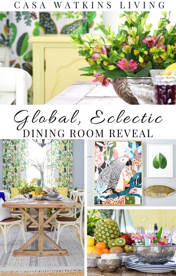 A global, eclectic tropical retreat dining room!